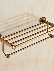 Полка для ванной / Старая латунь Современный