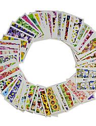 1set 48sheets נייל ארט מדבקה מדבקות העברת מים קוסמטיקה איפור נייל אמנות עיצוב
