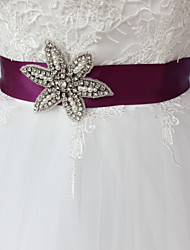 Raso Matrimonio Party/serata Da giorno Fusciacca-Con perline Diamantini Perle finte 250cm Con perline Diamantini Perle finte