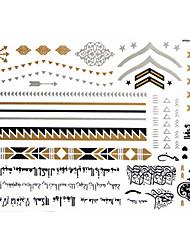 Tatuajes Adhesivos - Modelo - Series de Joya - Mujer/Girl/Adulto/Juventud - Dorado - Papel - #(1) - #(23x15) - #(Arabic text)