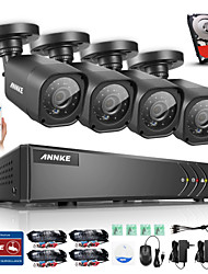 ANNKE® 8CH AHD DVR 4PCS 720P 1.0MP Night Vision Camera CCTV System Surveillance Kits Email Alert Built-in 1TB