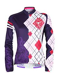 levne -TASDAN Dámské Dlouhý rukáv Cyklodres Jezdit na kole Dres, Rychleschnoucí, Odolný vůči UV záření, Prodyšné
