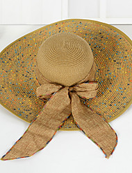 Women's Fashion Wide Large Brim Floppy Straw Hat Sun Hat Beach Cap Vintage Casual Summer Holiday
