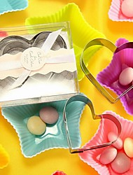 10box/lot - Heart Cookie Cutter Set (2pcs/box) Beter Gifts® Wedding Inspirations 7.5 x 6.5 x 2 cm/box