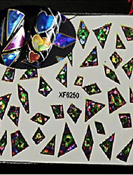 cheap -1pcs Nail Art Sticker  Glitter & Poudre 3D Nail Stickers Makeup Cosmetic Nail Art Design
