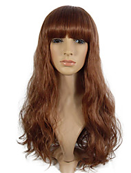 cheap -Wig Deep Wave Synthetic Fiber Long Wig ForWomen Costume Wig Heat Resistant Wig With Bangs
