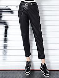 Sign Spot 2016 new PU leather pants female harem pants
