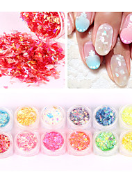 abordables -12pcs Manucure Dé oration strass Perles Maquillage cosmétique Nail Art Design