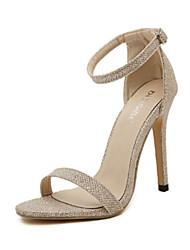 Damen-High Heels-Hochzeit-Wildleder-Stöckelabsatz-Komfort-Gold Schwarz Silber