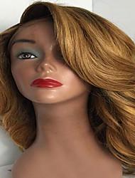 Chestnut Brown Glueless Human Hair Lace Front Wigs Brazilian Human Virgin Hair Wigs Body Wave Human Hair Lace Wigs