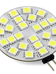 Недорогие -1pc 3w g4 led bulb 12v 24v ac / dc led круглый потолочный светильник 24 светодиода 5050 домашний свет кабинета