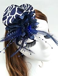 economico -Pelle Copricapo Fiori Cappelli Veli corti Ghirlande di fiori Copricapo