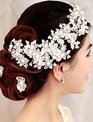Kristall Künstliche Perle Kopfschmuck-Hochzeit Besondere Anlässe Blumen 1 Stück