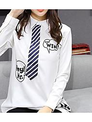 Assinar na primavera 2017 versão coreana da vida da faculdade e blusa de blusa branca blusa pequena provedor de vídeo