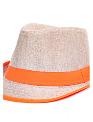 cheap -Men Linen Jazz Splicing Color Small Hat Beach Flat Top Shade Hat