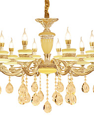 cheap -European Style Atmosphere Zinc Alloy Crystal Living Room Bedroom Home Chandelier