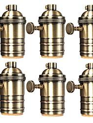 6 Pcs E26/ E27 Industrial Light Socket Vintage Edison Pendant lamp Metal holder With Knob switch