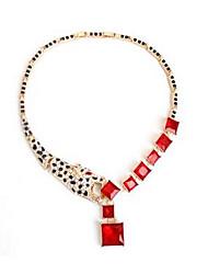 Недорогие -Жен. Винтаж Euramerican Ожерелья с подвесками Синтетический изумруд Синтетический сапфир Синтетический рубин Ожерелья с подвесками , Для
