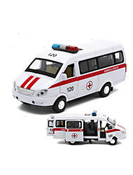 cheap -Toy Cars Die-Cast Vehicles Pull Back Vehicles Police car Ambulance Vehicle Toys Car Metal Alloy Plastic 1 Pieces Gift