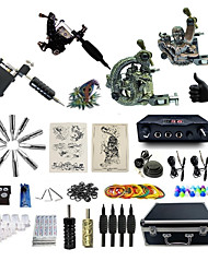 cheap -Complete Tattoo Kit 4 Machines G4A2R3Z12Z10P Liner & Shader Dual LED Digital Power Supply