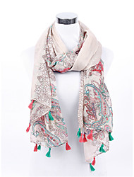 Simplicity Women's Silk Chiffon Scarf Colorful Abstract Art Scarves New for