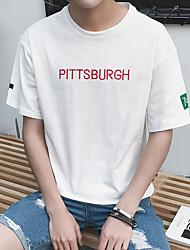 Summer men's letters printed short-sleeved T-shirt Aberdeen Wind