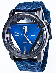 cheap -Men's Women's Fashion Watch Wrist watch Quartz Fabric Band Casual Black Blue Red Green