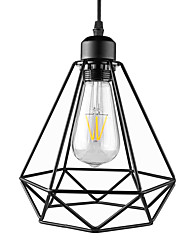 cheap -Max 60W Vintage Black Metal Loft Pendant Lights Living Room Dining Room Hallway Cafe Bars Clothing Store decoration Light Fixture