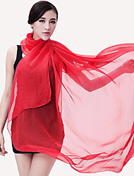 cheap -Sunscreen Scarves Anti-ultraviolet Shawl Solid Color Large Chiffon Beach Scarf Female