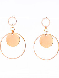 Non Stone Round Dangle Earrings Jewelry Circular Design Dangling Style Pendant Euramerican Fashion Personalized Party Daily Casual Copper