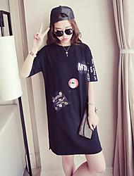 Tee-shirt Femme,Autres Quotidien Intérieur Lune de Miel Ecole Rendez-vous Plein Air Sexy Eté Manches Courtes Col Arrondi Coton Moyen