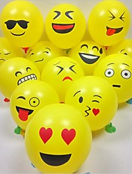 100Pcs/Set  12 Emoji Balloons Smiley Face Expression Yellow Latex Balloons Party Wedding Ballon Cartoon Inflatable Balls