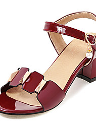 Women's Sandals Comfort Slingback Club Shoes Leatherette Spring Summer Outdoor Dress Comfort Slingback Club Shoes Beading BuckleChunky