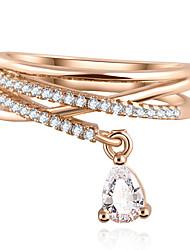 Недорогие -свадьба капля воды циркон кулон роскошь ювелирных изделия крест многоэтажного кольцо (золото и серебро)