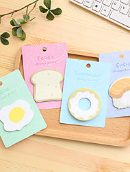 cheap -1 PCS Breakfast Food Cute Self-Stick Notes
