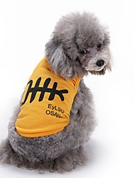 cheap -Cat Dog Vest Dog Clothes Summer Animal Cute Fashion Casual/Daily Fish Bone Yellow White Blue Pet Clothing