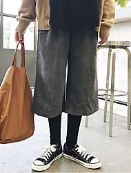 firmare falsi due pantaloni gamba larga di velluto a coste
