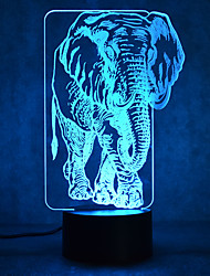 cheap -Elephant Touch Dimming 3D LED Night Light 7Colorful Decoration Atmosphere Lamp Novelty Lighting Light