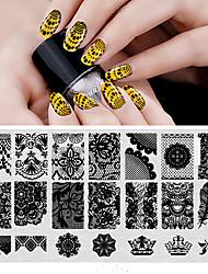 bc-Nagelplatten Kunststoffnägel Art Stempel Kunststoffschablonen für Gel- polnischen Stanzen