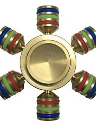 Spinners de mão Mão Spinner Brinquedos Seis Spinner Metal EDCAlivia ADD, ADHD, Ansiedade, Autismo Por matar o tempo Brinquedo foco O
