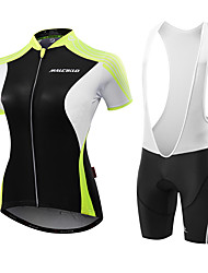 cheap -Malciklo Cycling Jersey with Bib Shorts Women's Short Sleeves Bike Jersey Anatomic Design Moisture Permeability Breathable Compression