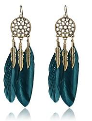 cheap -Women's Drop Earrings - Vintage Black / Dark Blue Wings / Feather Earrings For Party / Daily / Casual