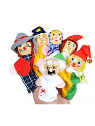 cheap -Pretend Play Finger Puppets Puppets Educational Toy Toys Toys Cute Lovely Plush Kids Girls' 6 Pieces