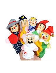 preiswerte -Tue so als ob du spielst Fingerpuppe Marionetten Bildungsspielsachen Spielzeuge Spielzeuge Niedlich lieblich Plüsch Mädchen 6 Stücke