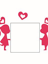 abordables -Personnage Romance Bande dessinée Stickers muraux Autocollants avion Autocollants muraux décoratifs Autocollants d'interrupteurs, Vinyle