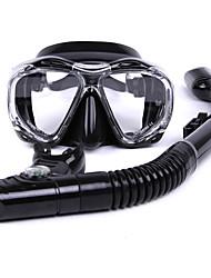 Kits para Snorkeling Mergulho e Snorkeling Vidro Silicone Borracha-WHALE