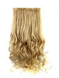 cheap -Clip In Hair Extensions Hairpiece 23inch 58cm 110g Curly Wavy Hair Extension Synthetic Heat Resistant  D1010 27/613#