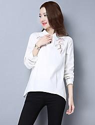 Signe 2017 printemps nouvelle féminine littéraire fraîche broderie chemise en vrac était mince blouses femmes