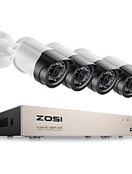 ZOSI® 4CH 1080P TVI DVR 2.0MP 1080P CCTV Camera P2P Home Outdoor Security Camera Surveillance CCTV System Kits