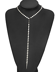 abordables -Femme Diamant synthétique Collier court / Ras-du-cou - Original, Bikini Or, Argent Colliers Tendance Pour Mariage, Soirée, Quotidien